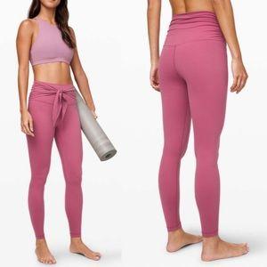"NWT lululemon Align Pant 28"" Wrap waist Moss Rose"